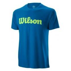 WILSON M SCRIPT COTTON TEE Imperial B/Sharp Grn